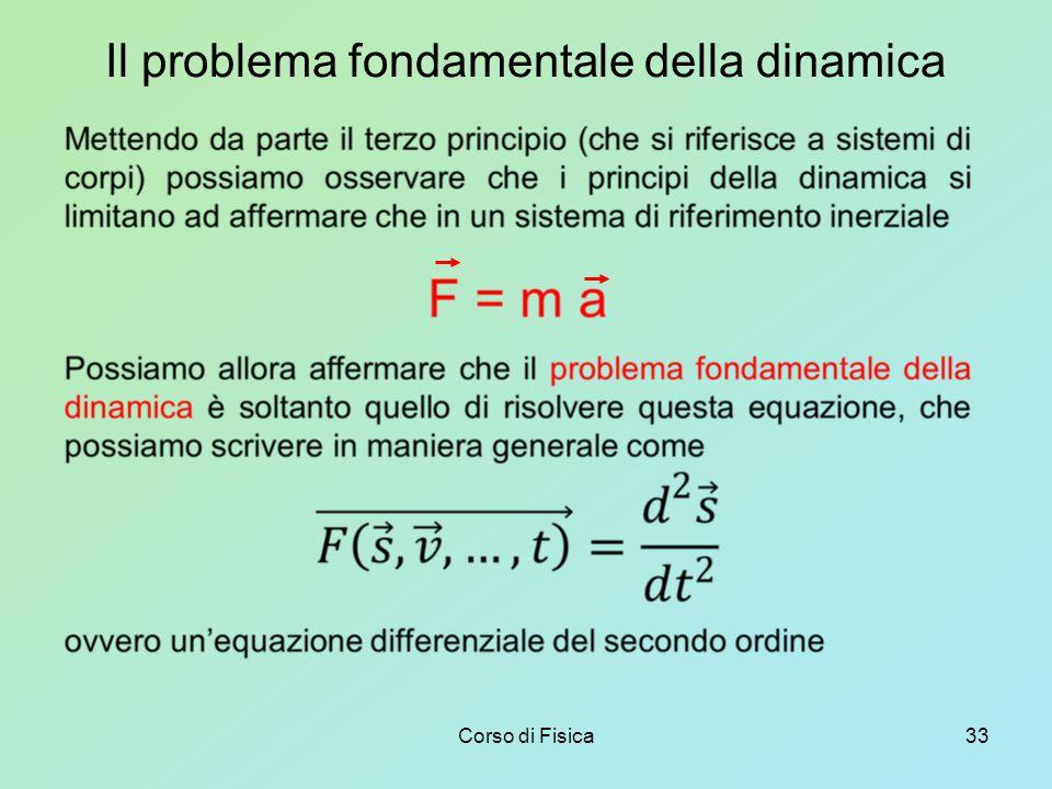 Corso di Fisica33 Il problema fondamentale della dinamica