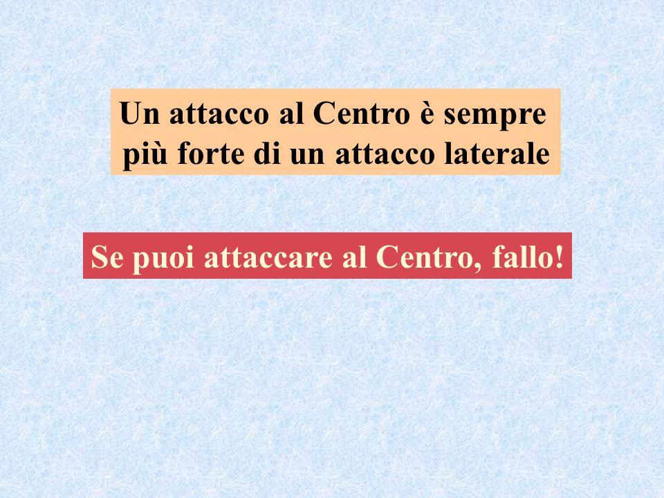 Un attacco al Centro è sempre più forte di un attacco laterale Se puoi attaccare al Centro, fallo!