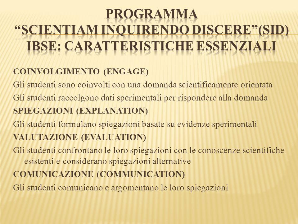 PROGRAMMA Scientiam Inquirendo Discere (SID) DALLA FARINA AL PANE