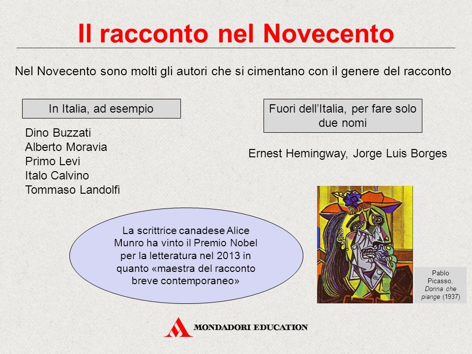 Il racconto nel Novecento Nel Novecento sono molti gli autori che si cimentano con il genere del racconto In Italia, ad esempio Dino Buzzati Alberto M