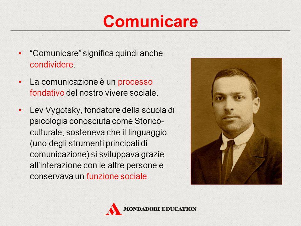 Comunicare significa quindi anche condividere.
