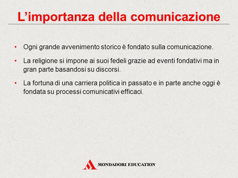 Ogni grande avvenimento storico è fondato sulla comunicazione.