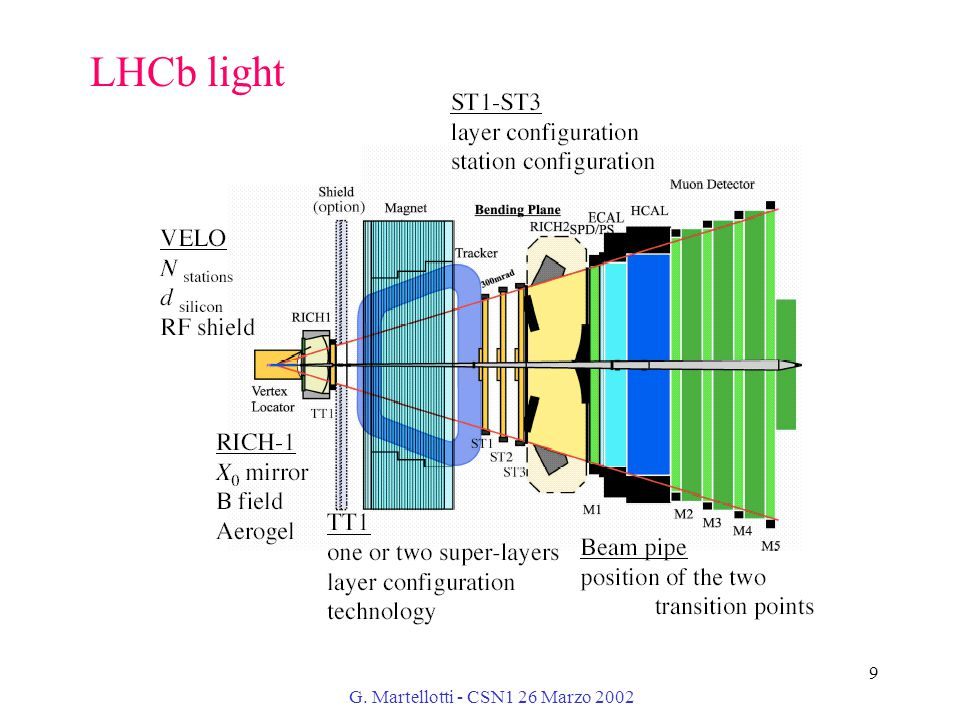 G. Martellotti - CSN1 26 Marzo 2002 9 LHCb light