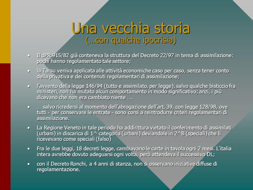 Quali criteri e scelte adottare per l'assimilazione Le regole di assimilazione nel Consorzio Priula (TV2)