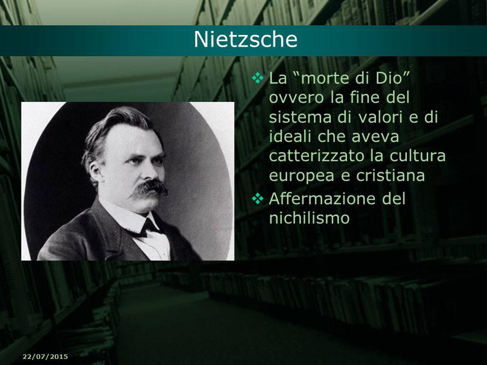 """22/07/2015 Nietzsche  La """"morte di Dio"""" ovvero la fine del sistema di valori e di ideali che aveva catterizzato la cultura europea e cristiana  Affe"""