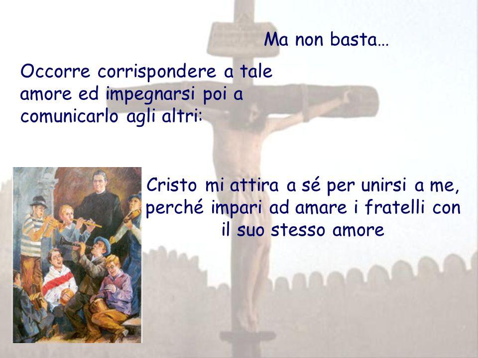 Ma non basta… Occorre corrispondere a tale amore ed impegnarsi poi a comunicarlo agli altri: Cristo mi attira a sé per unirsi a me, perché impari ad amare i fratelli con il suo stesso amore