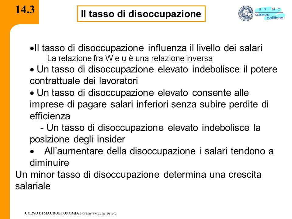 CORSO DI MACROECONOMIA Docente Prof.ssa Bevolo 14.4  I fattori istituzionali quali variabili comprendono.