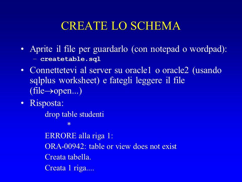 Voglio creare la pagina: Mostra studenti Elenco studenti Cognome Nome Carto Lina Mando Lino Aspi Rina Compi Tino