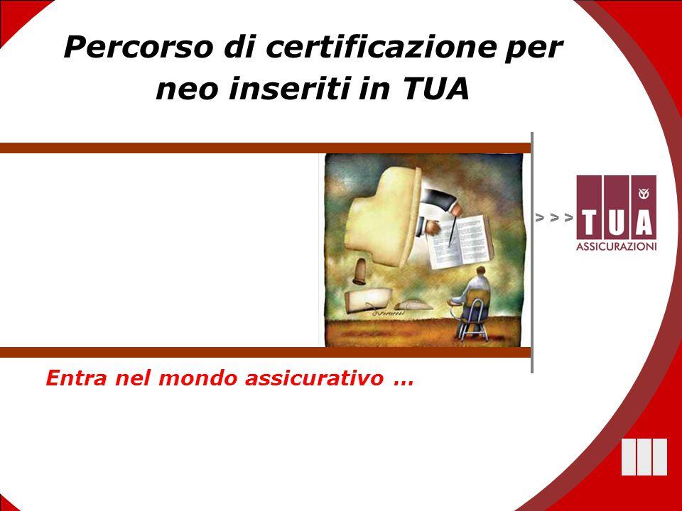 1 > > > Percorso di certificazione per neo inseriti in TUA Entra nel mondo assicurativo …