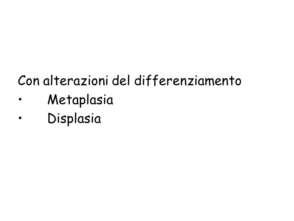 Atrofia/ipertrofia