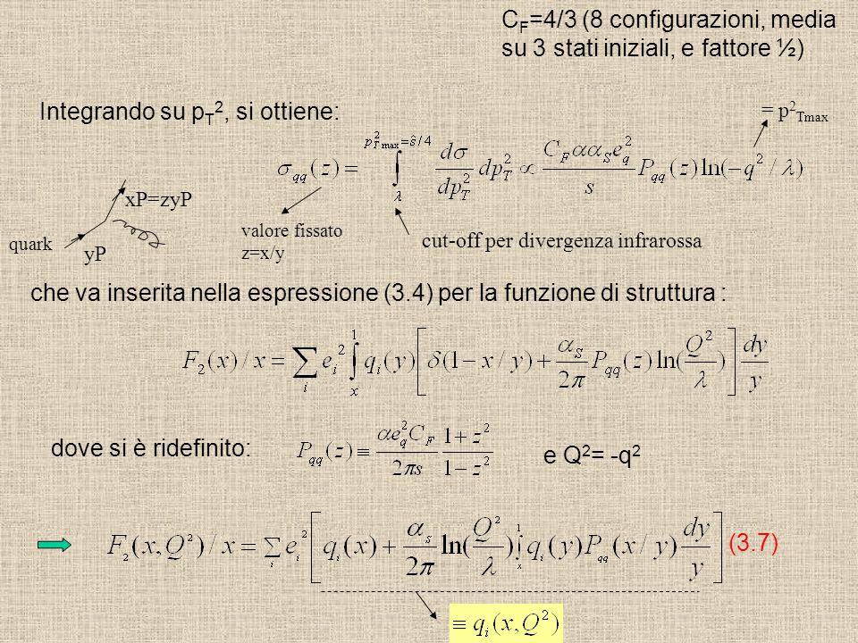 Integrando su p T 2, si ottiene: cut-off per divergenza infrarossa che va inserita nella espressione (3.4) per la funzione di struttura : (3.7) dove s