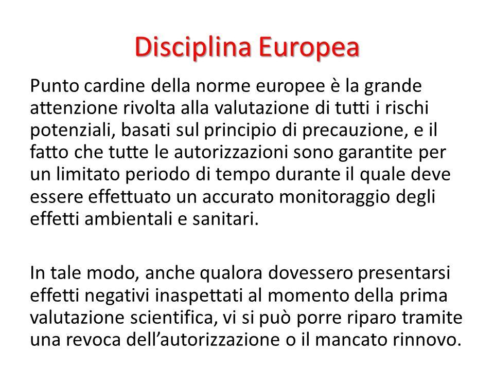 Disciplina Europea Punto cardine della norme europee è la grande attenzione rivolta alla valutazione di tutti i rischi potenziali, basati sul principi