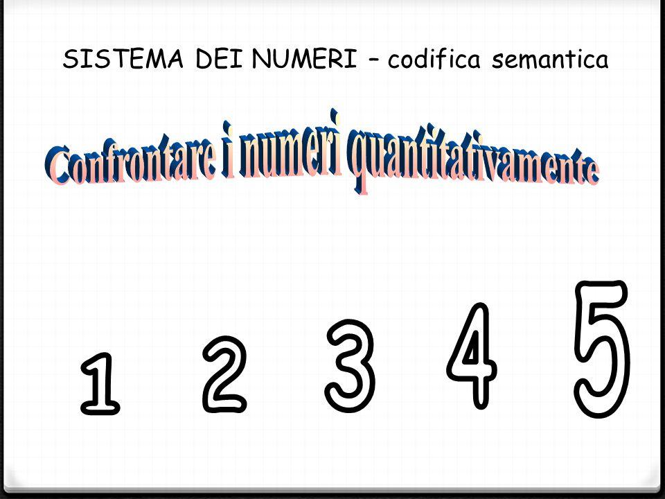 SISTEMA DEI NUMERI – codifica semantica