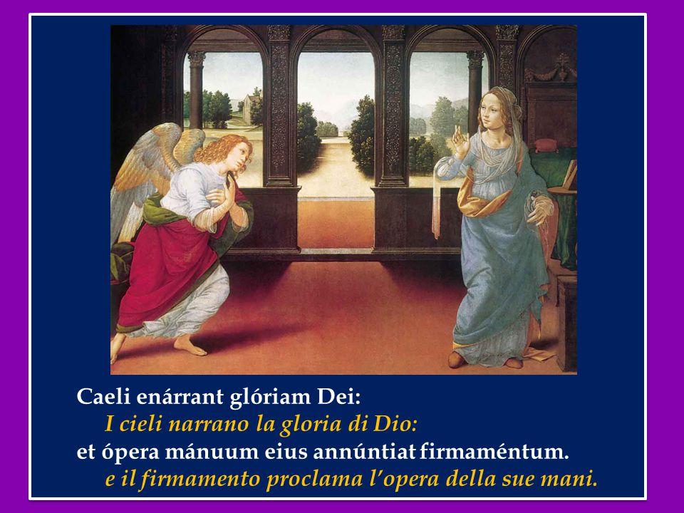 Caeli enárrant glóriam Dei: I cieli narrano la gloria di Dio: et ópera mánuum eius annúntiat firmaméntum.