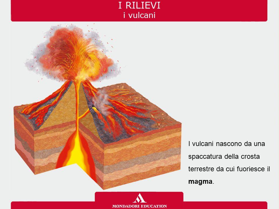 I vulcani nascono da una spaccatura della crosta terrestre da cui fuoriesce il magma. I RILIEVI i vulcani