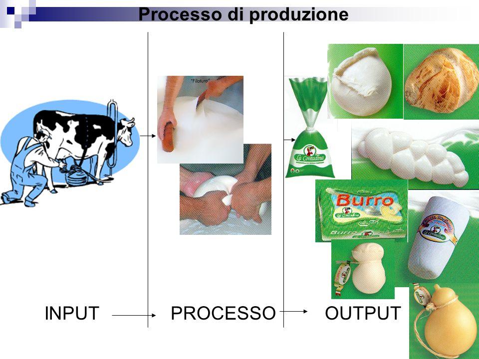 INPUTPROCESSOOUTPUT Processo di produzione