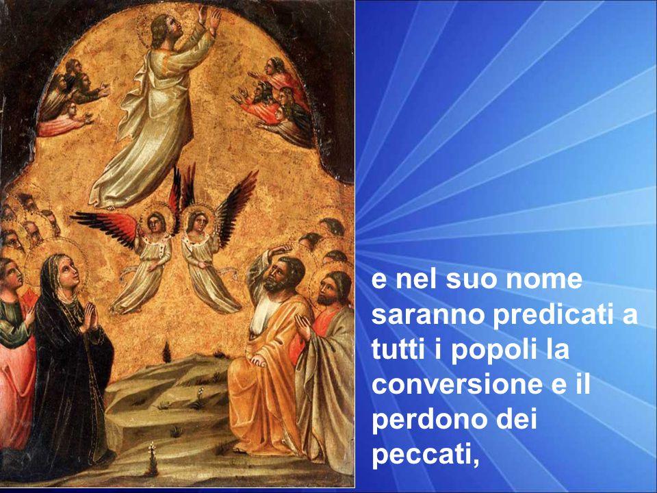 In quel tempo, Gesù disse ai suoi discepoli: «Così sta scritto: il Cristo patirà e risorgerà dai morti il terzo giorno