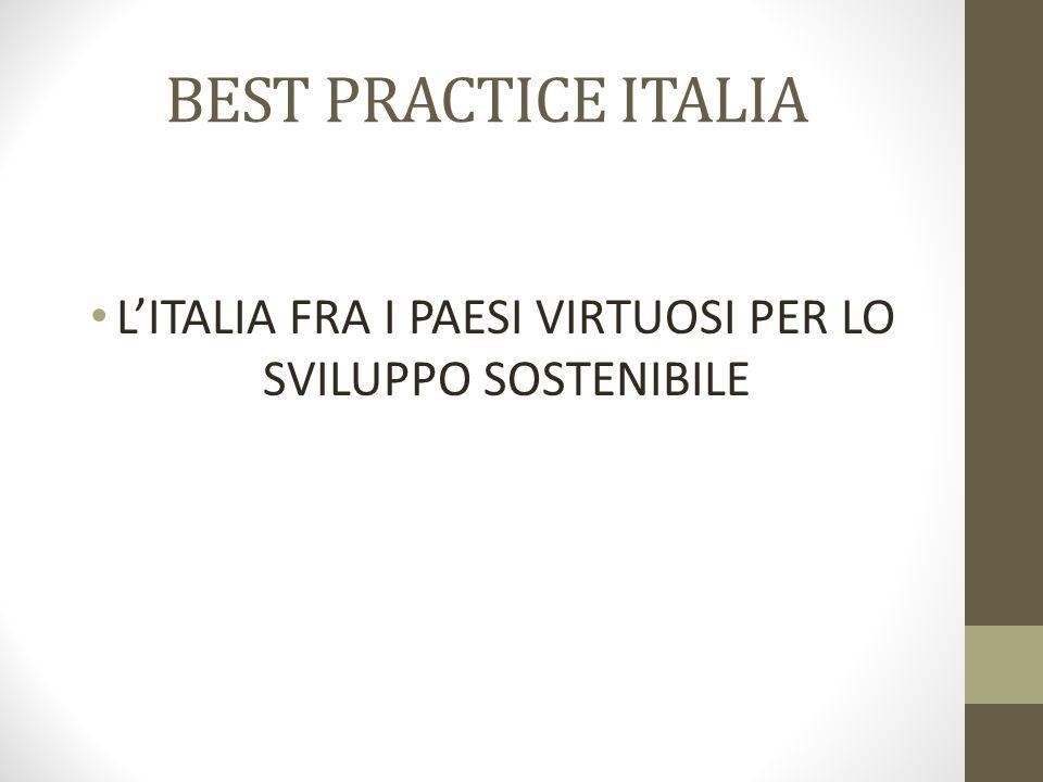 BEST PRACTICE ITALIA L'ITALIA FRA I PAESI VIRTUOSI PER LO SVILUPPO SOSTENIBILE