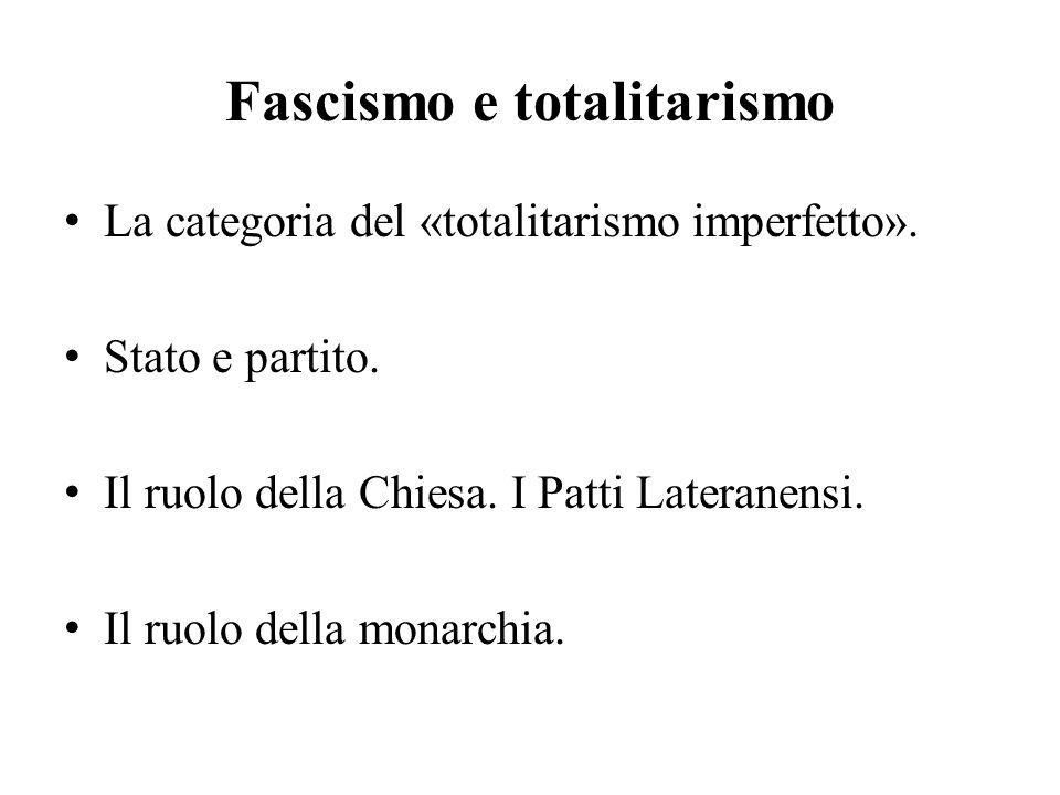 Il regime e il paese L'arretratezza della società italiana.