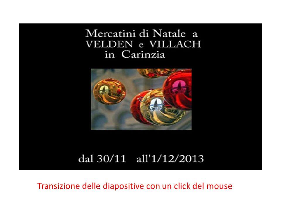 Transizione delle diapositive con un click del mouse
