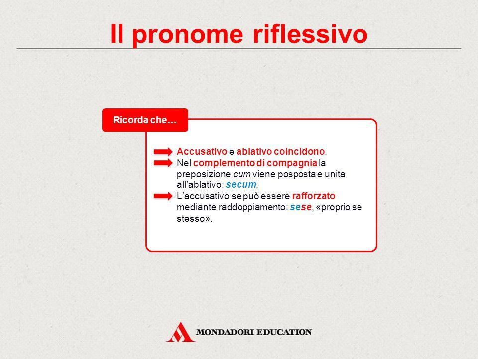 Il pronome riflessivo L'unico pronome con valore esclusivamente riflessivo è quello di III persona, mentre per la I e II persona si usano i pronomi personali con valore riflessivo.