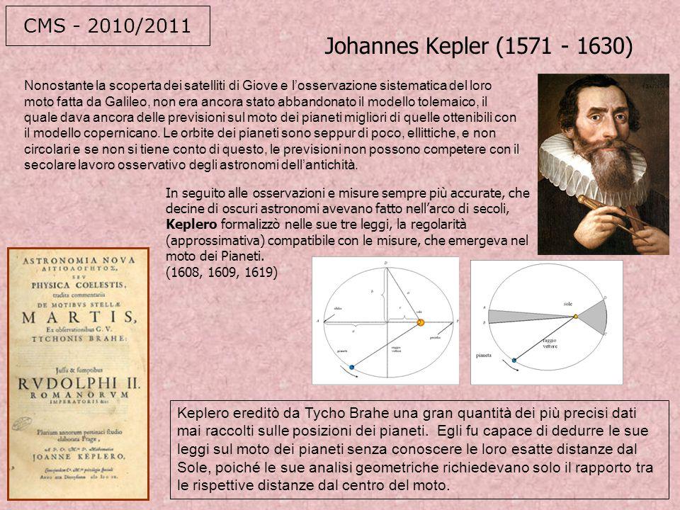 I legge (1608) Ilmoto dei pianeti descive un'ellisse della quale il sole occupa uno dei fuochi II legge (1609) il raggio vettore di ogni pianta spazza area uguali in tempi uguali III legge (1619) il quadrato del periodo di rotazione èproporzionale al cubo dei semiassi maggiori delle orbite Le prime due leggi furono enunciate in un libro di astronomia; la terza, invece, fu inserita in un testo che si occupava anche di musica e di astrologia.