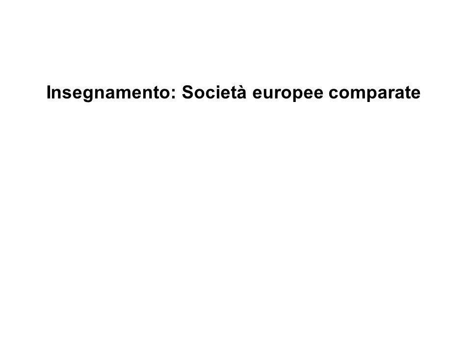 Insegnamento: Società europee comparate