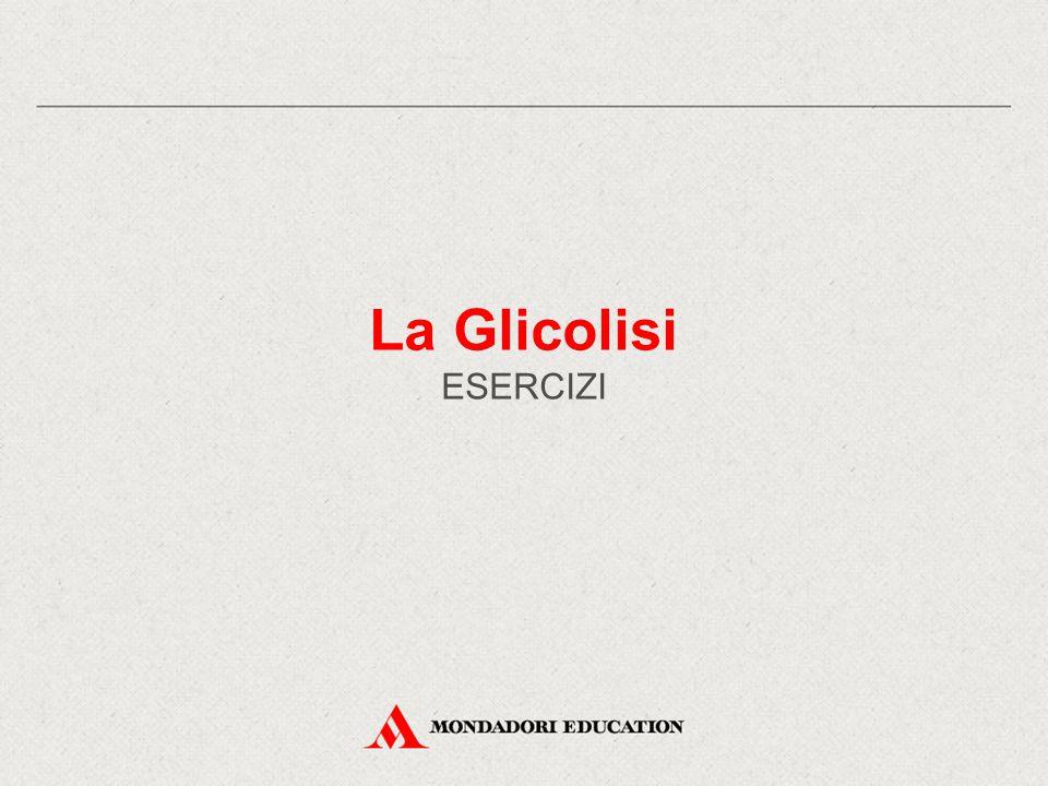 La Glicolisi ESERCIZI