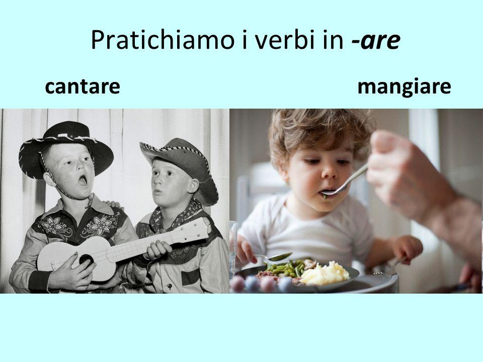 Pratichiamo i verbi in -are cantaremangiare