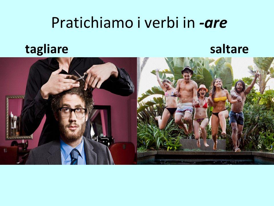 Pratichiamo i verbi in -are tagliaresaltare