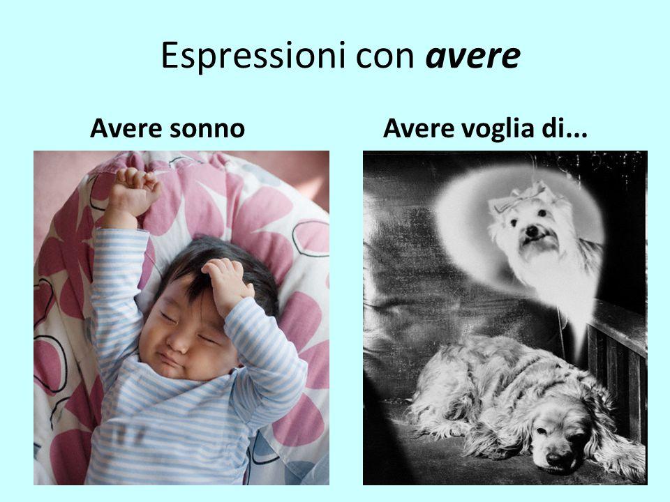 Espressioni con avere Avere sonnoAvere voglia di...