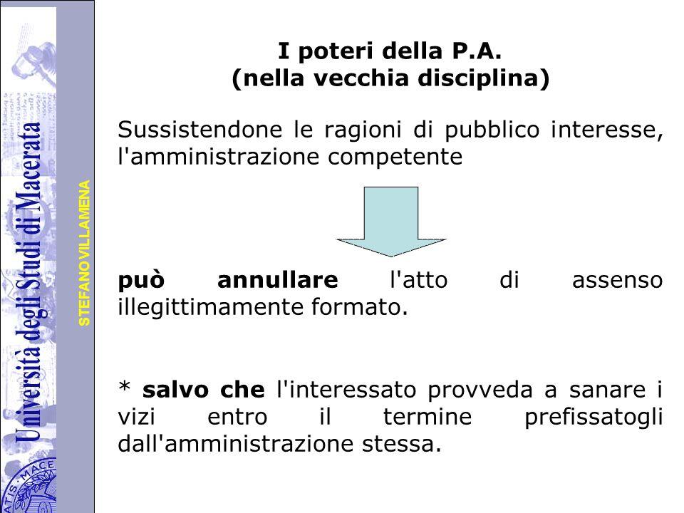 Università degli Studi di Perugia STEFANO VILLAMENA I poteri della P.A.