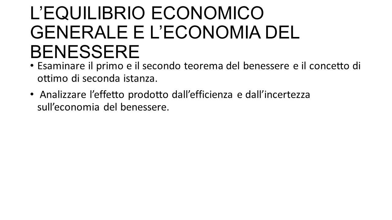 L'EQUILIBRIO ECONOMICO GENERALE E L'ECONOMIA DEL BENESSERE In seguito viene deciso l'aumento dell'imposta sulla birra.
