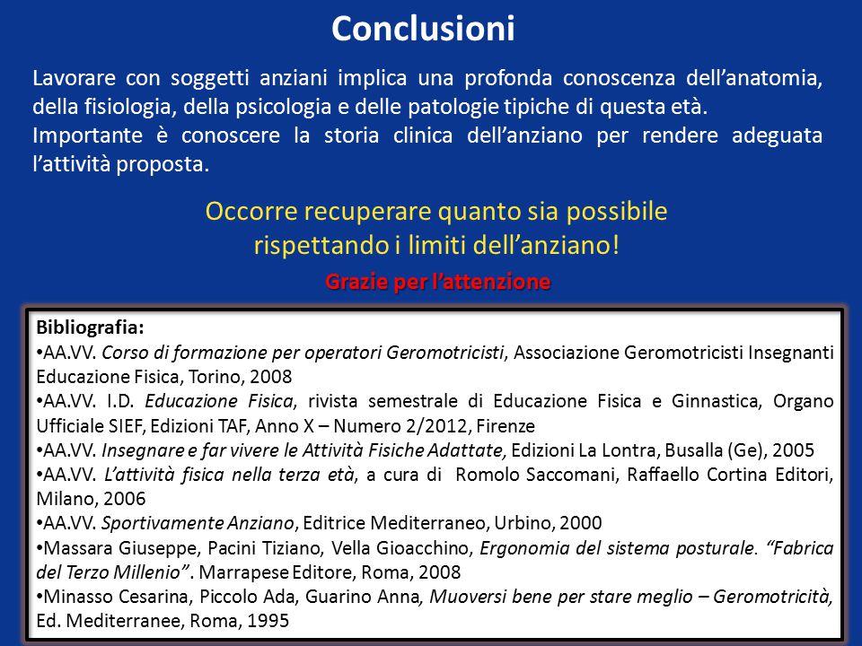 Conclusioni Bibliografia: AA.VV.