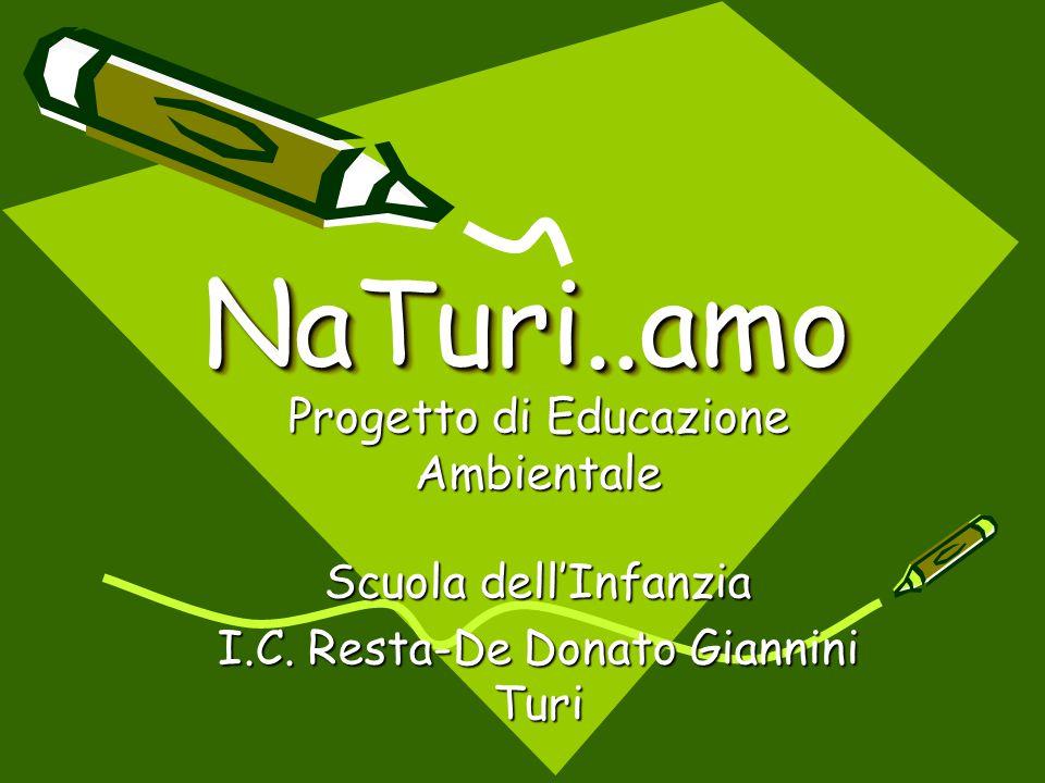 NaTuri..amoNaTuri..amo Progetto di Educazione Ambientale Scuola dell'Infanzia I.C. Resta-De Donato Giannini Turi