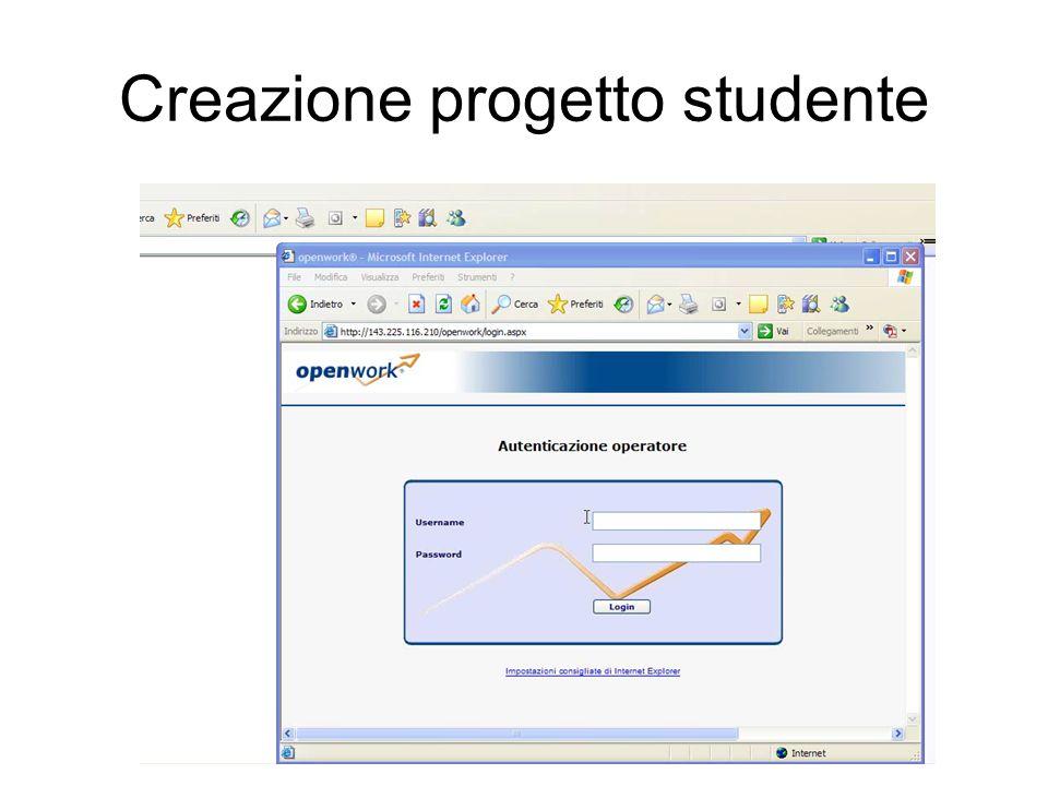 Creazione progetto studente