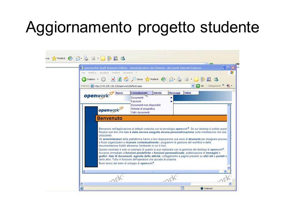 Aggiornamento progetto studente