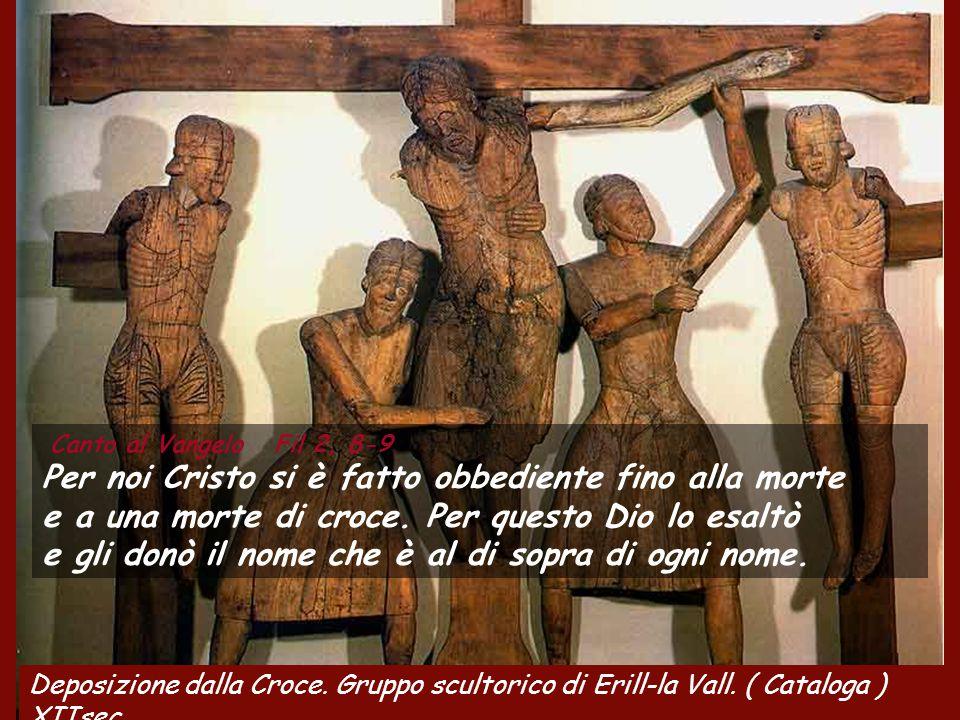 Fil 2,6-11 Cristo Gesù, pur essendo nella condizione di Dio,non ritenne un privilegio l'essere come Dio,ma svuotò se stesso assumendo una condizione d