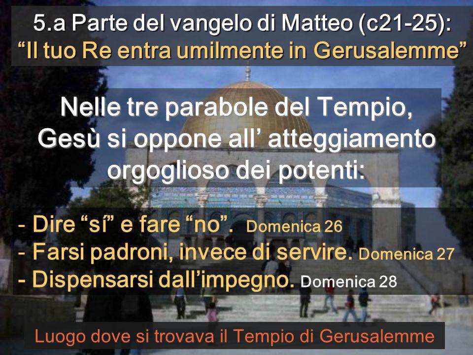 Diciamo al Signore Dove vuoi che prepariamo per mangiare la Pasqua? (Passione di Bach) Monges de Sant Benet de Montserrat 28 ANNO A