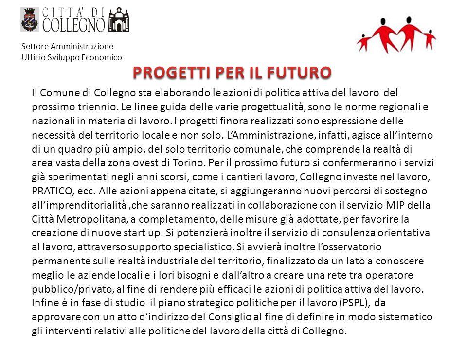 Il Comune di Collegno sta elaborando le azioni di politica attiva del lavoro del prossimo triennio.