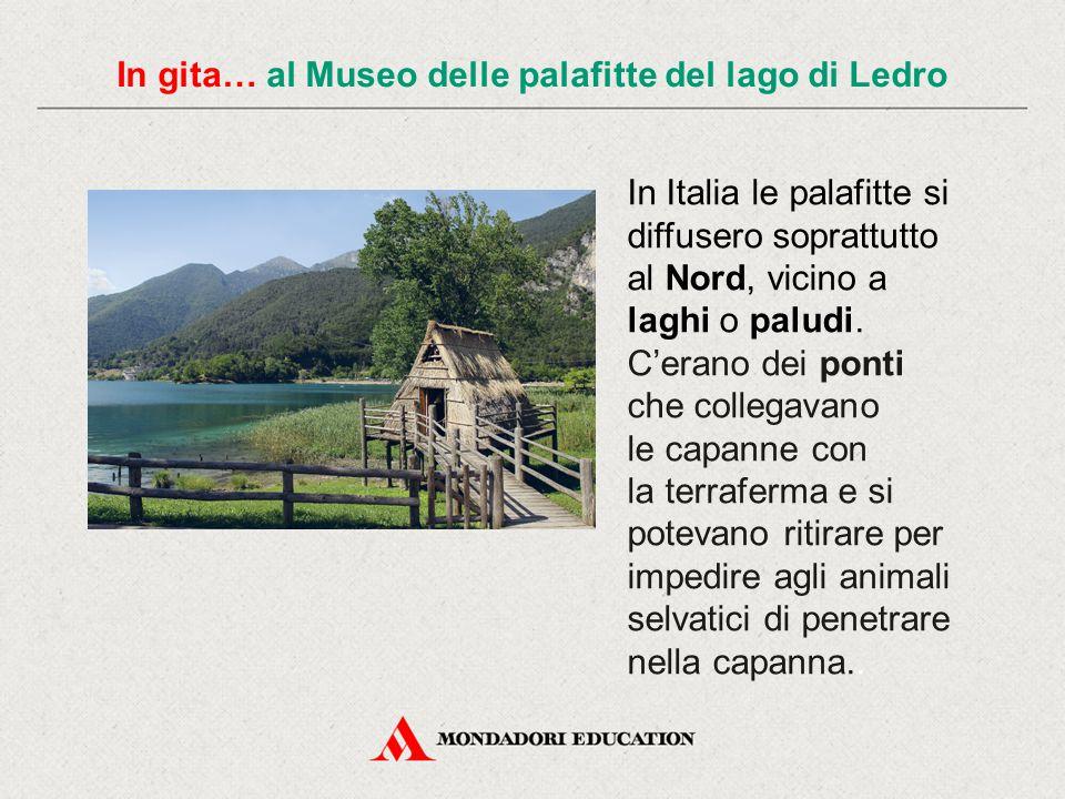 In gita… al Museo delle palafitte del lago di Ledro In Italia le palafitte si diffusero soprattutto al Nord, vicino a laghi o paludi. C'erano dei pont