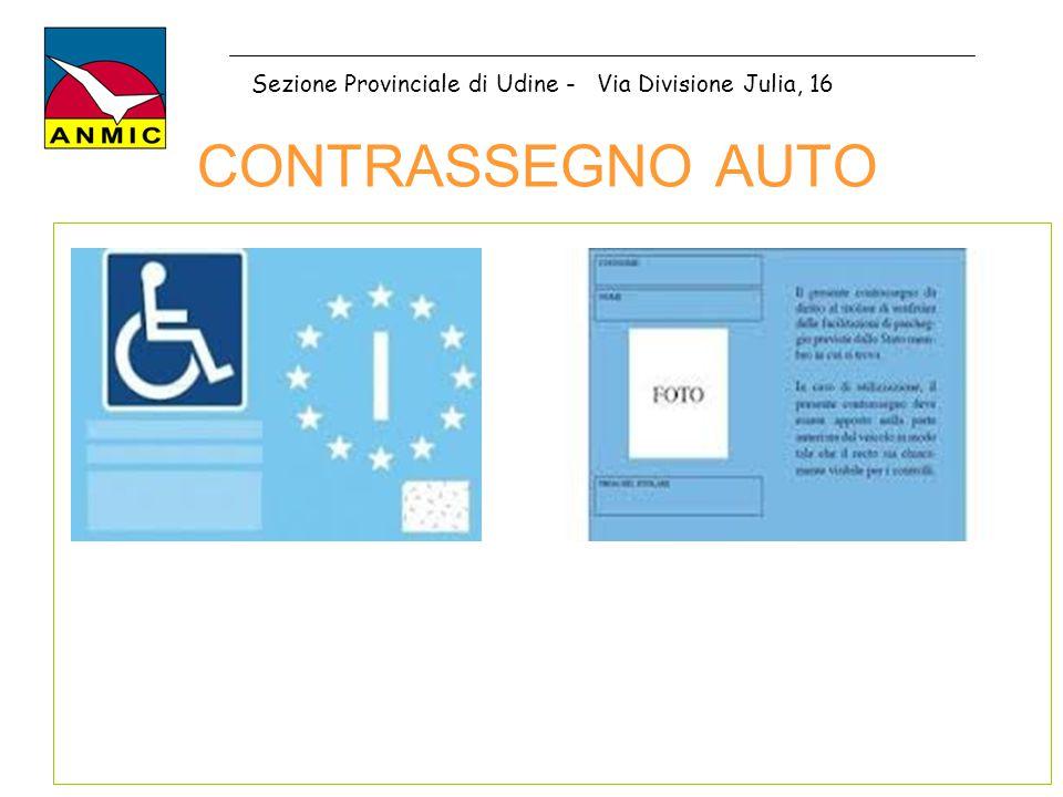 CONTRASSEGNO AUTO Sezione Provinciale di Udine - Via Divisione Julia, 16