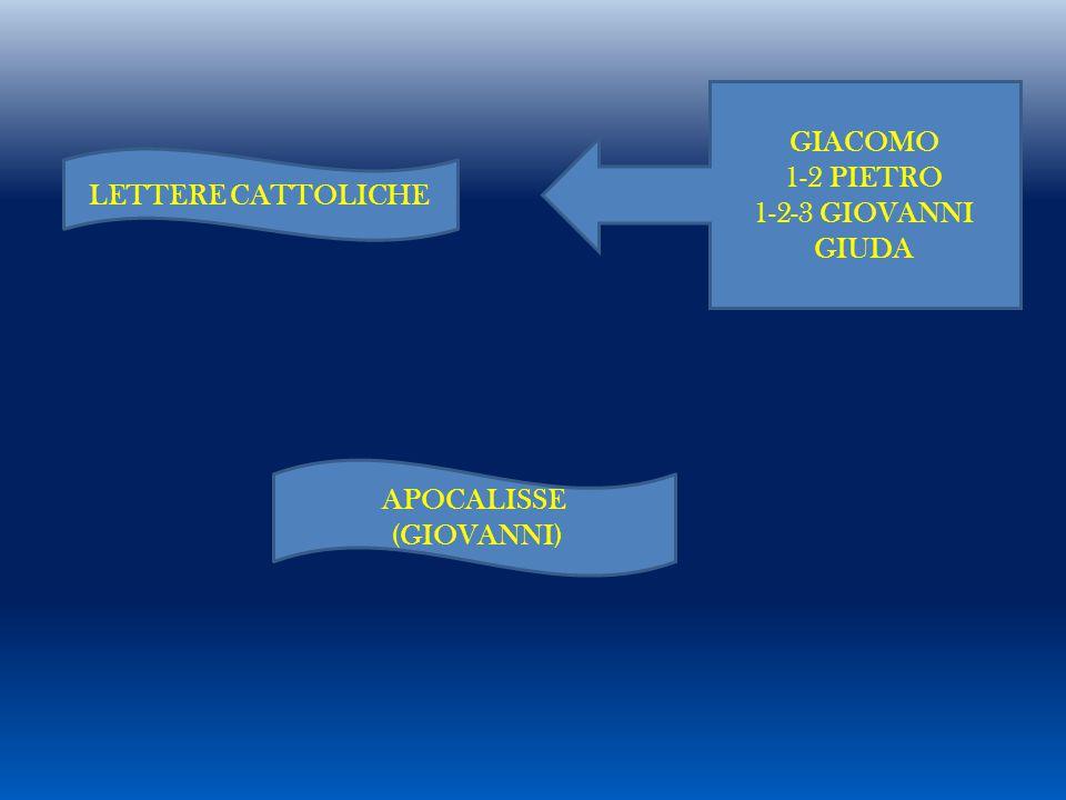 LETTERE CATTOLICHE GIACOMO 1-2 PIETRO 1-2-3 GIOVANNI GIUDA APOCALISSE (GIOVANNI)