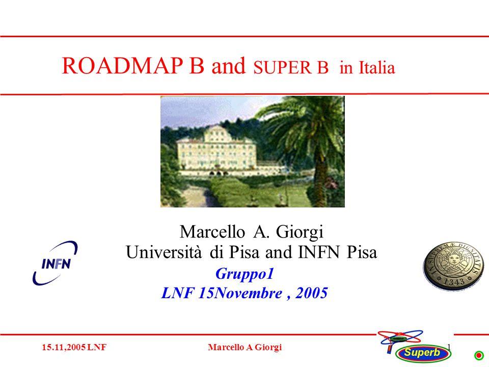 15.11,2005 LNFMarcello A Giorgi1 Marcello A.