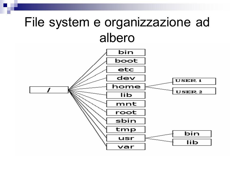 File system e organizzazione ad albero Linux (o Unix più in generale)utilizza diversi tipi di filesystem.