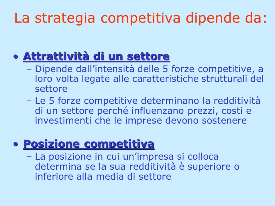Le 5 forze competitive (M.