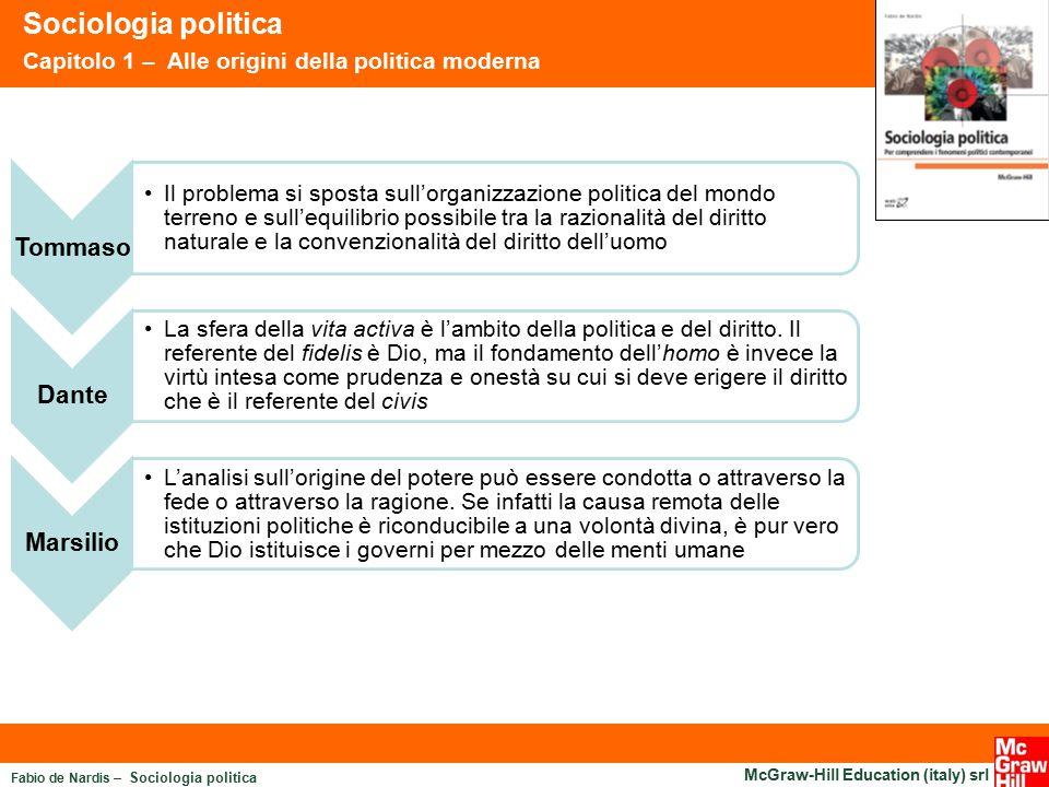 Fabio de Nardis – Sociologia politica McGraw-Hill Education (italy) srl Sociologia politica Capitolo 1 – Alle origini della politica moderna Tommaso I