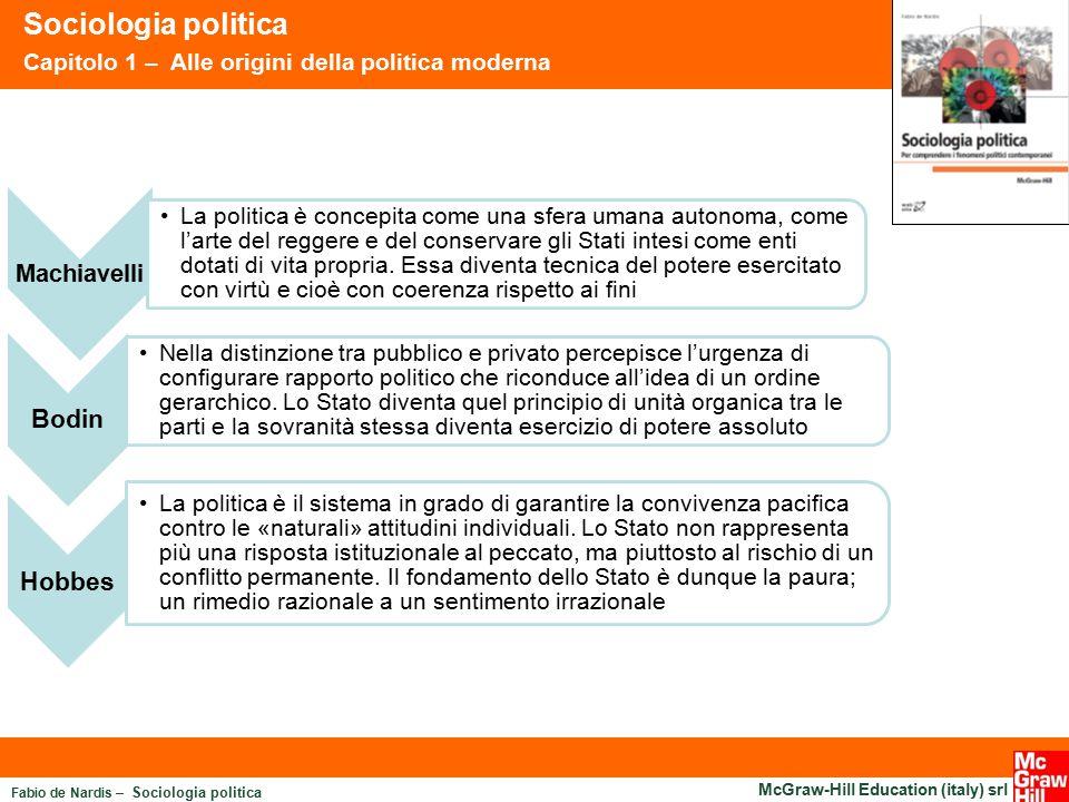 Fabio de Nardis – Sociologia politica McGraw-Hill Education (italy) srl Sociologia politica Capitolo 1 – Alle origini della politica moderna Machiavel