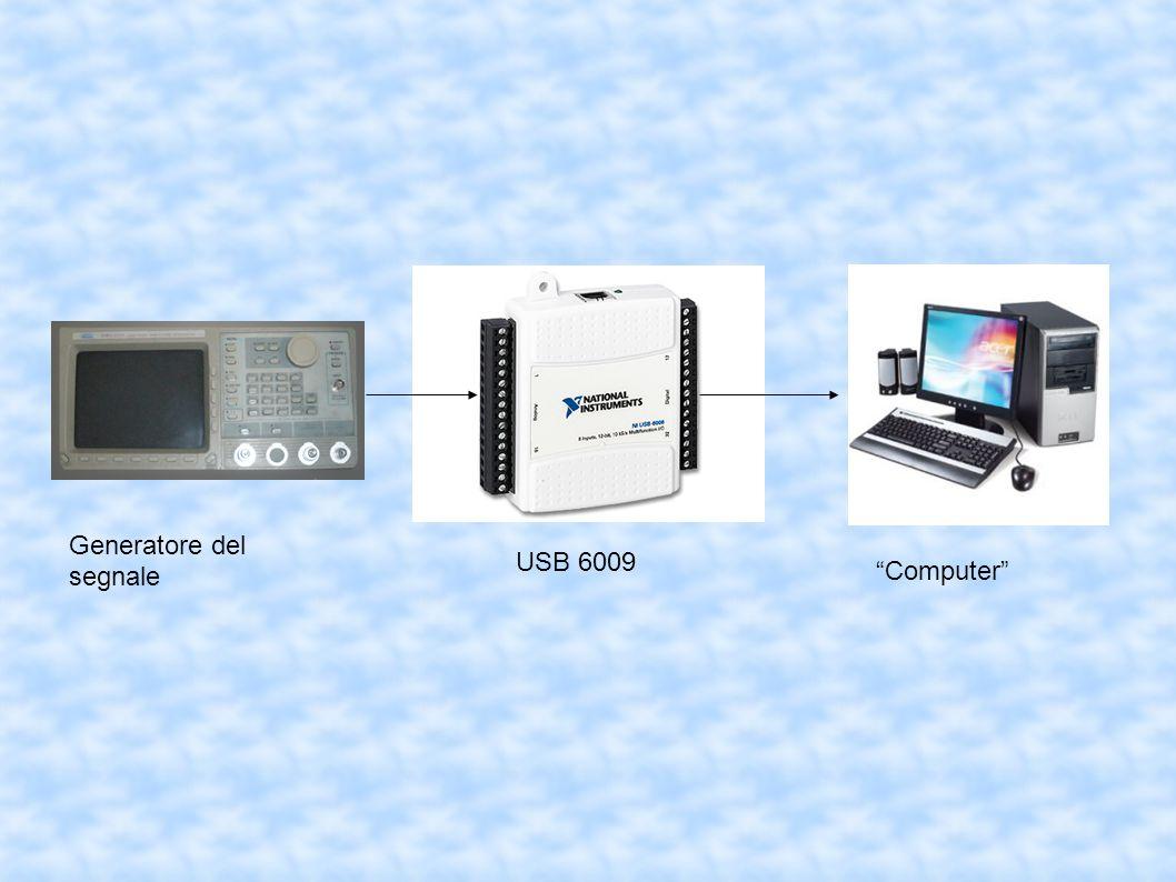 """Generatore del segnale USB 6009 """"Computer"""""""