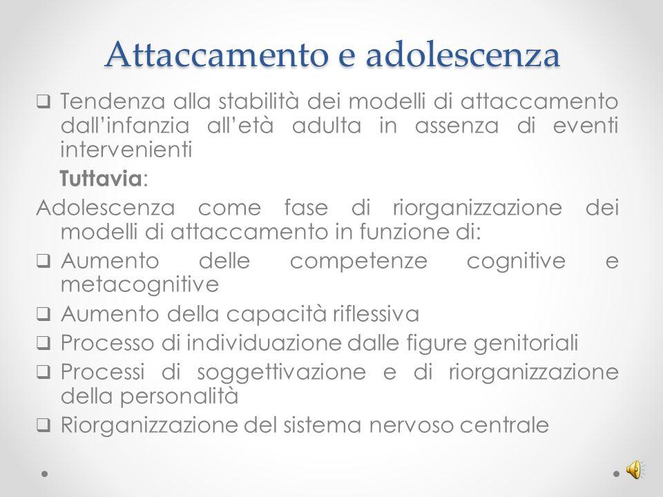 Adolescenza, attaccamento e rischio psicopatologico